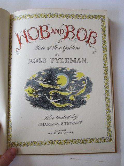 Photo of HOB AND BOB A TALE OF TWO GOBLINS written by Fyleman, Rose illustrated by Stewart, Charles published by Hollis & Carter (STOCK CODE: 1105782)  for sale by Stella & Rose's Books