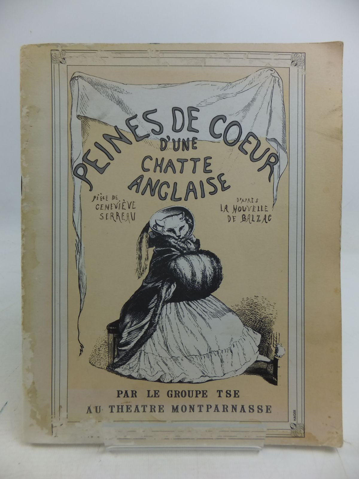 Photo of PEINES DE COEUR D'UNE CHATTE ANGLAISE written by De Balzac, Honore published by Publications Willy Fischer (STOCK CODE: 1108863)  for sale by Stella & Rose's Books