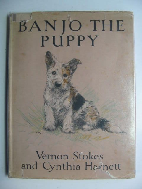 Photo of BANJO THE PUPPY written by Stokes, Vernon<br />Harnett, Cynthia illustrated by Stokes, Vernon<br />Harnett, Cynthia published by Blackie & Son Ltd. (STOCK CODE: 1201143)  for sale by Stella & Rose's Books