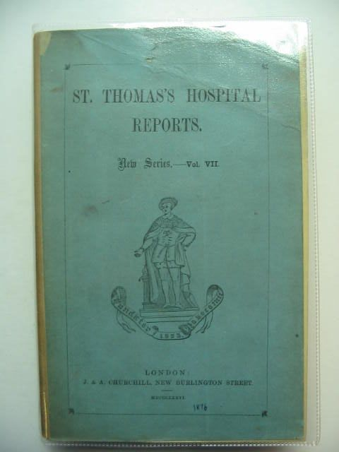 Photo of SAINT THOMAS'S HOSPITAL REPORTS VOL VII written by Bristowe, Dr.<br />Stone, Dr.<br />Croft, Mr. published by J. & A. Churchill (STOCK CODE: 1201171)  for sale by Stella & Rose's Books