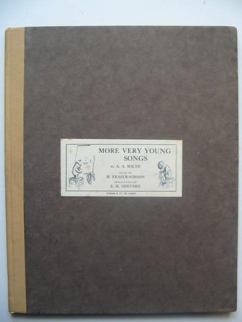 Photo of MORE VERY YOUNG SONGS written by Milne, A.A.<br />Fraser-Simson, H. illustrated by Shepard, E.H. published by Methuen & Co. Ltd. (STOCK CODE: 1202339)  for sale by Stella & Rose's Books