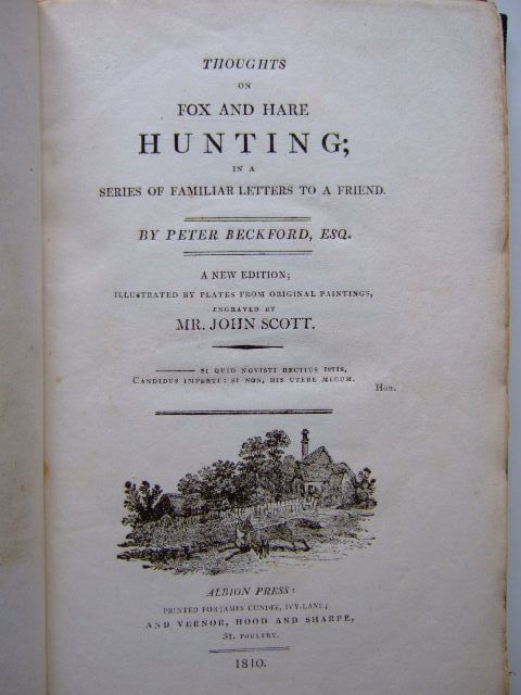 Photo of THOUGHTS ON FOX AND HARE HUNTING written by Beckford, Peter illustrated by Scott, John published by The Albion Press (STOCK CODE: 1203369)  for sale by Stella & Rose's Books