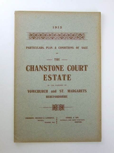 Photo of PARTICULARS, PLAN AND CONDITIONS OF SALE OF THE CHANSTONE COURT ESTATE published by Messrs. Stooke And Son (STOCK CODE: 1205918)  for sale by Stella & Rose's Books