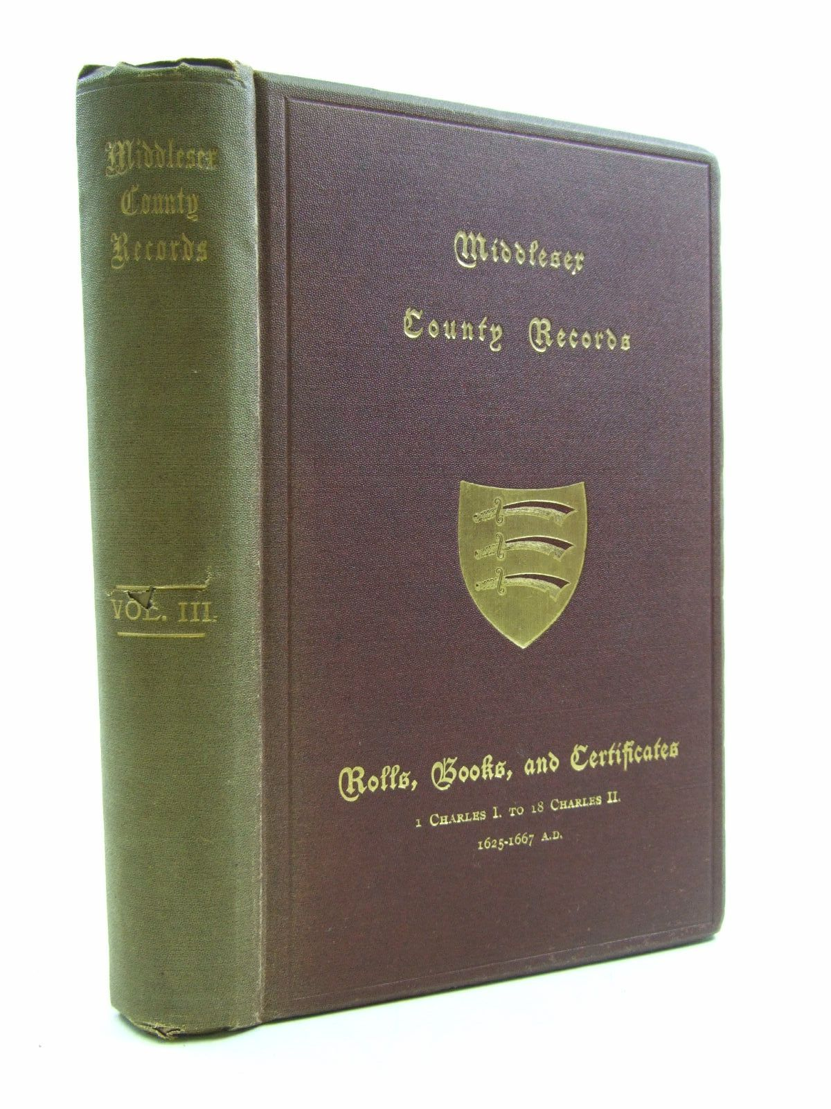 Photo of MIDDLESEX COUNTY RECORDS VOLUME III written by Jeaffreson, J.C. published by The Middlesex County Record Society (STOCK CODE: 1207506)  for sale by Stella & Rose's Books