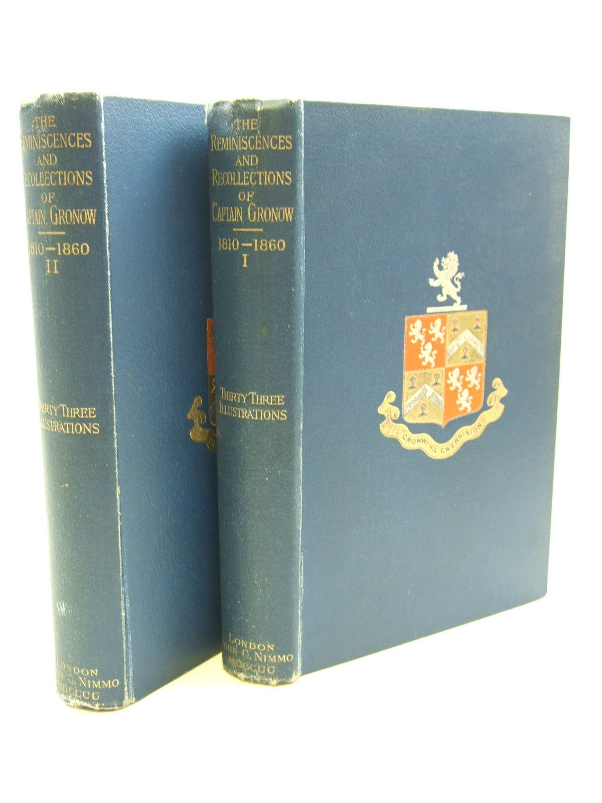 Photo of THE REMINISCENCES AND RECOLLECTIONS OF CAPTAIN GRONOW 2 VOLUMES written by Gronow, Captain illustrated by Grego, Joseph published by John C. Nimmo (STOCK CODE: 1207572)  for sale by Stella & Rose's Books