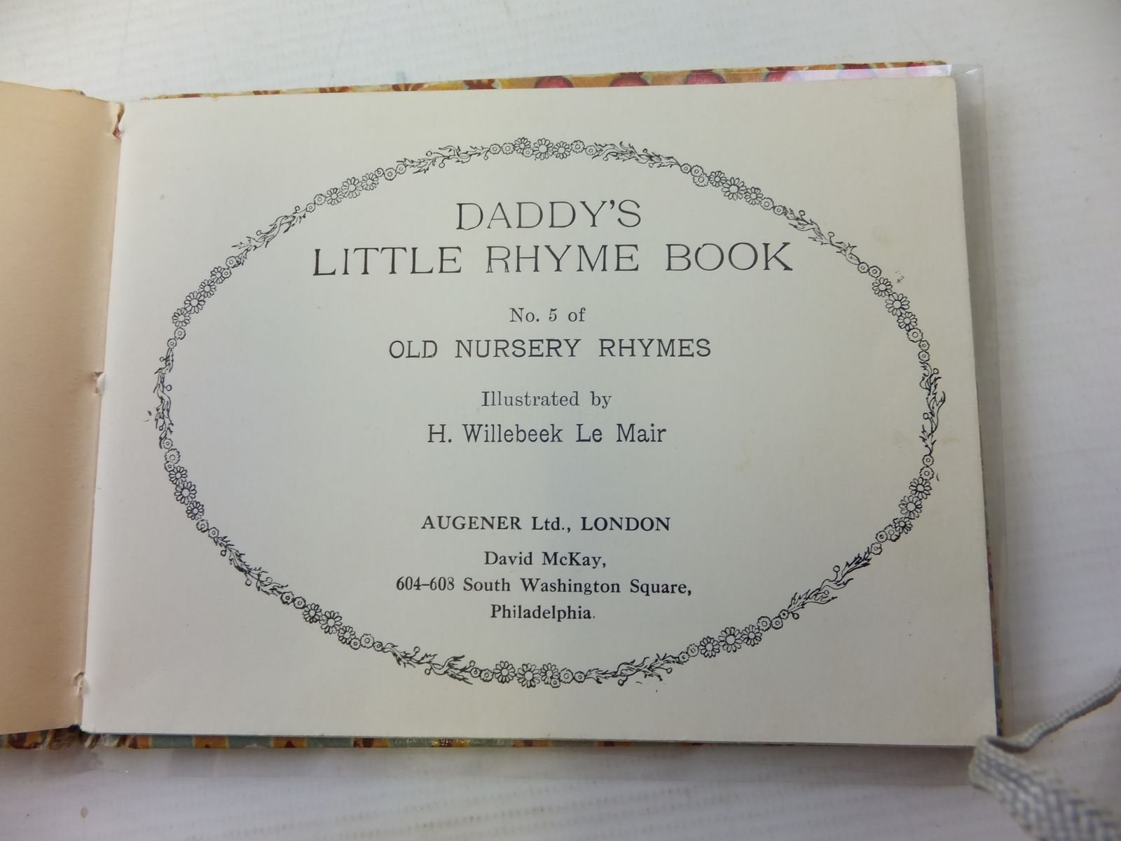 Photo of DADDY'S LITTLE RHYME BOOK illustrated by Willebeek Le Mair, Henriette published by Augener Ltd. (STOCK CODE: 1207799)  for sale by Stella & Rose's Books