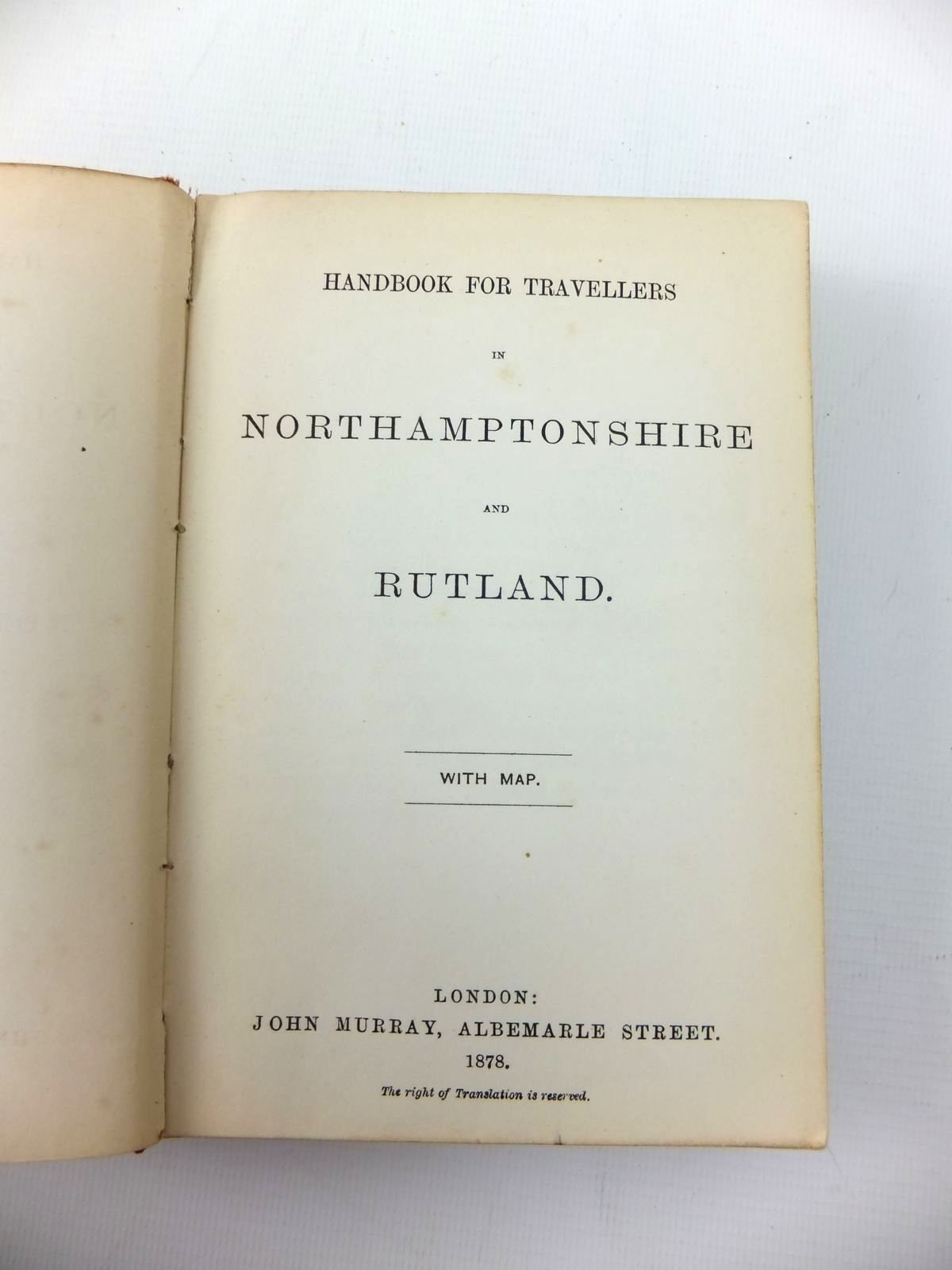 Photo of HANDBOOK FOR NORTHAMPTONSHIRE AND RUTLAND published by John Murray (STOCK CODE: 1208690)  for sale by Stella & Rose's Books