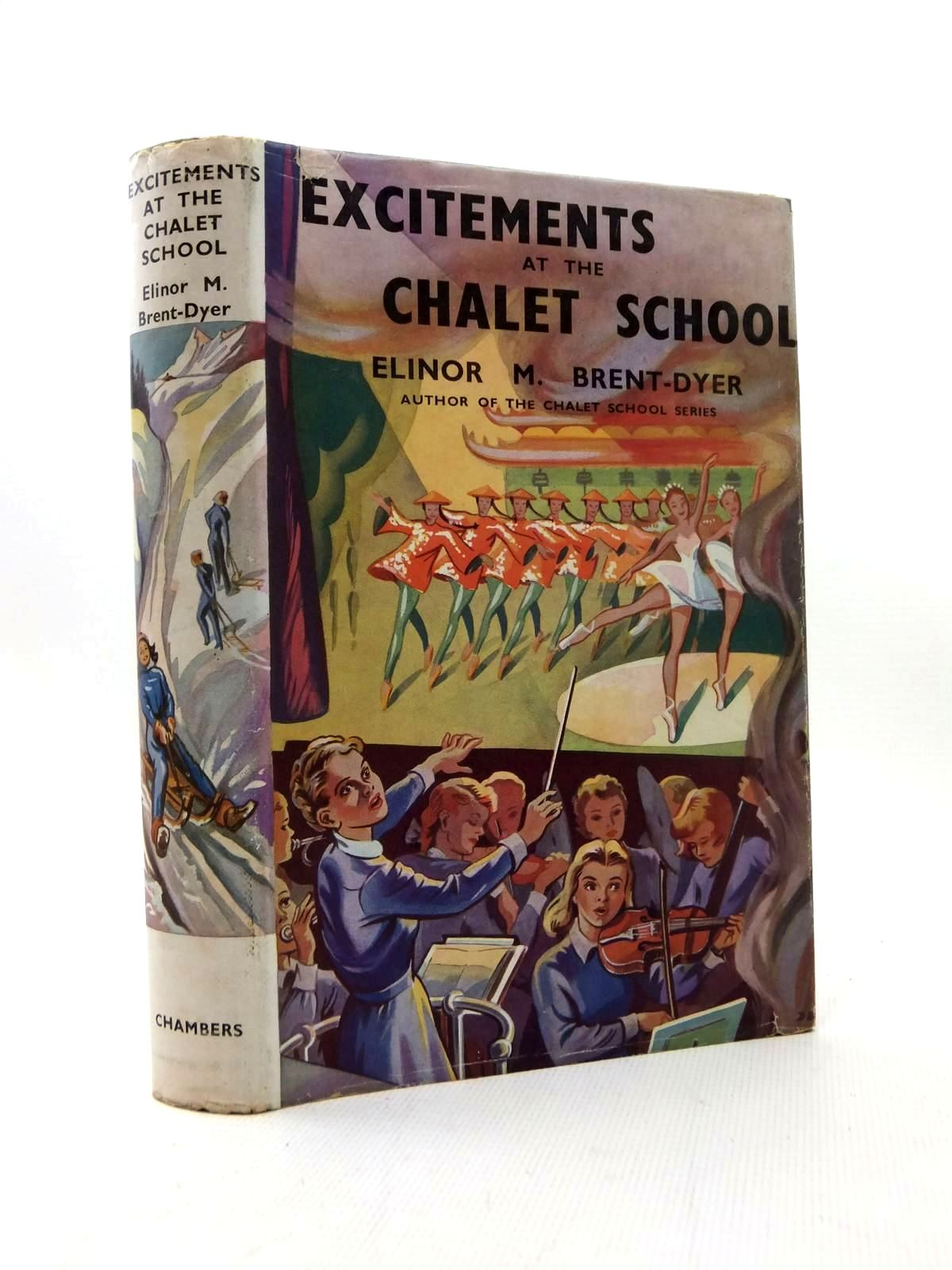 Photo of EXCITEMENTS AT THE CHALET SCHOOL written by Brent-Dyer, Elinor M. illustrated by Brook, D. published by W. & R. Chambers Limited (STOCK CODE: 1208794)  for sale by Stella & Rose's Books