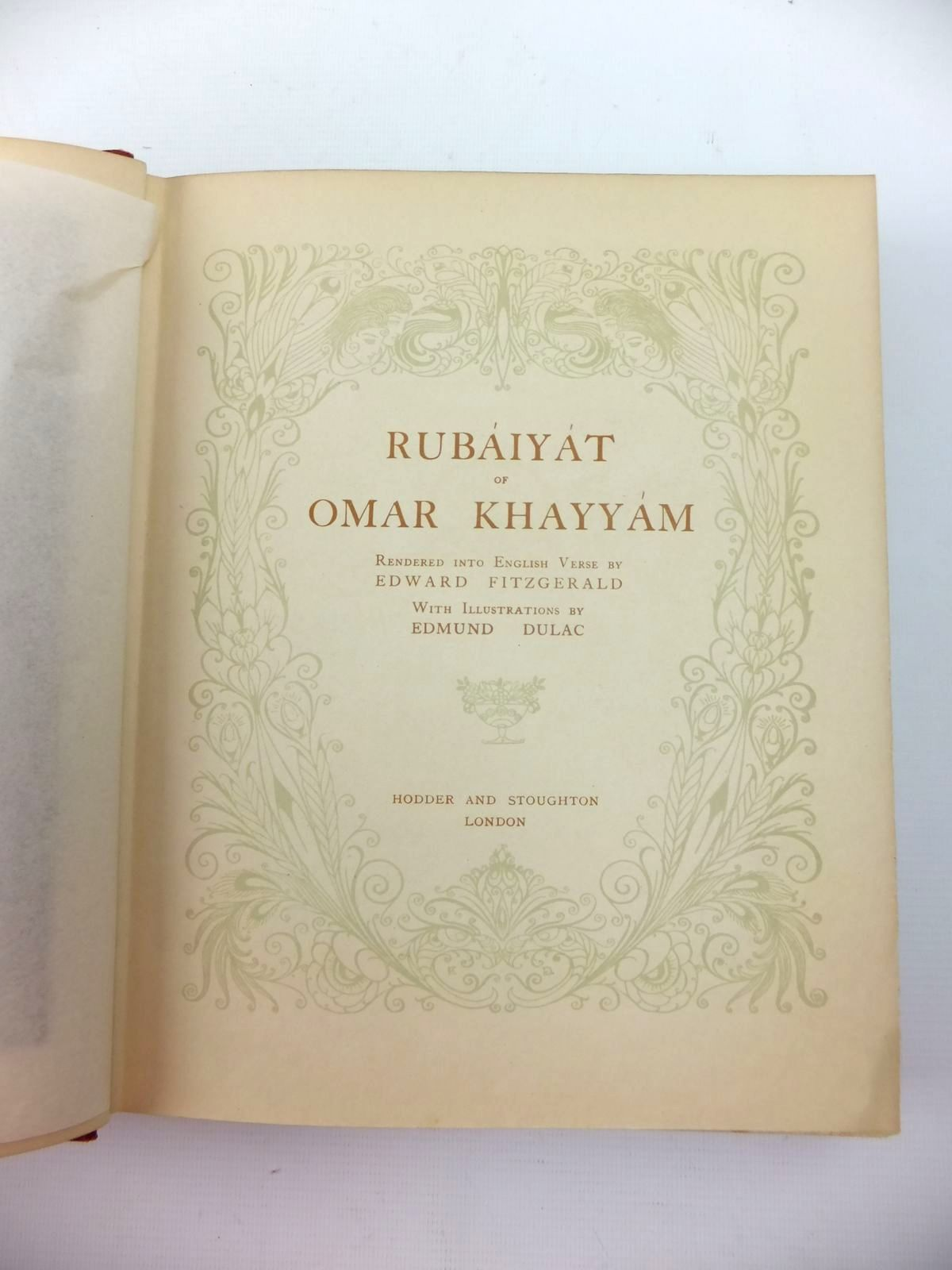 Photo of RUBAIYAT OF OMAR KHAYYAM written by Fitzgerald, Edward illustrated by Dulac, Edmund published by Hodder & Stoughton (STOCK CODE: 1208806)  for sale by Stella & Rose's Books