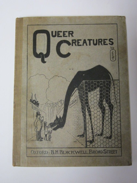 Photo of QUEER CREATURES written by E.S.T.,  illustrated by E.S.T.,  published by Basil Blackwell (STOCK CODE: 1307031)  for sale by Stella & Rose's Books