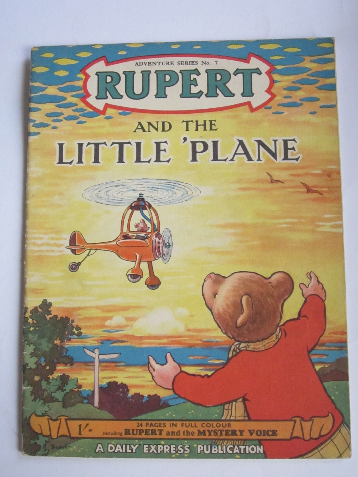 Photo of RUPERT ADVENTURE SERIES No. 7 - RUPERT AND THE LITTLE PLANE written by Bestall, Alfred illustrated by Bestall, Alfred published by Daily Express (STOCK CODE: 1309069)  for sale by Stella & Rose's Books