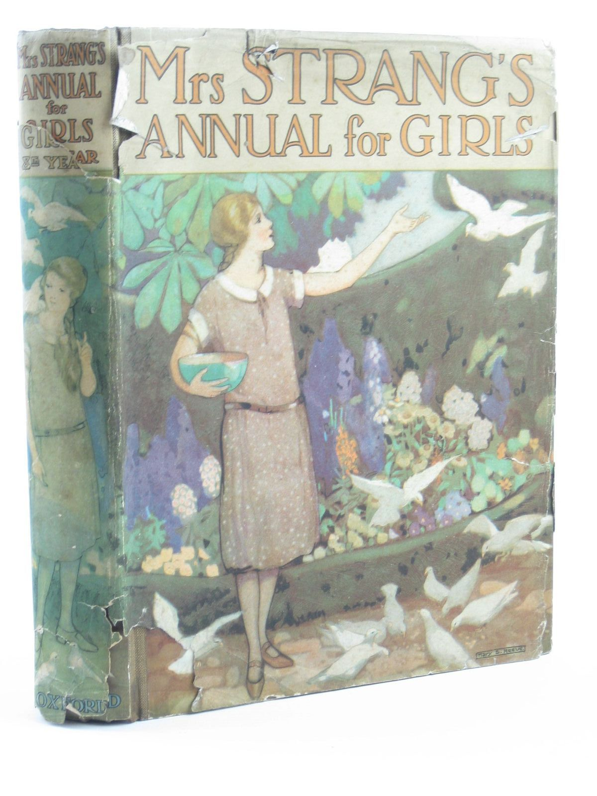 Photo of MRS STRANG'S ANNUAL FOR GIRLS written by Strang, Mrs. Herbert<br />Darch, Winifred<br />Bruce, Dorita Fairlie<br />et al,  illustrated by Brock, C.E.<br />Harrison, Florence<br />Reeve, Mary Strange<br />et al.,  published by Oxford University Press, Humphrey Milford (STOCK CODE: 1311212)  for sale by Stella & Rose's Books