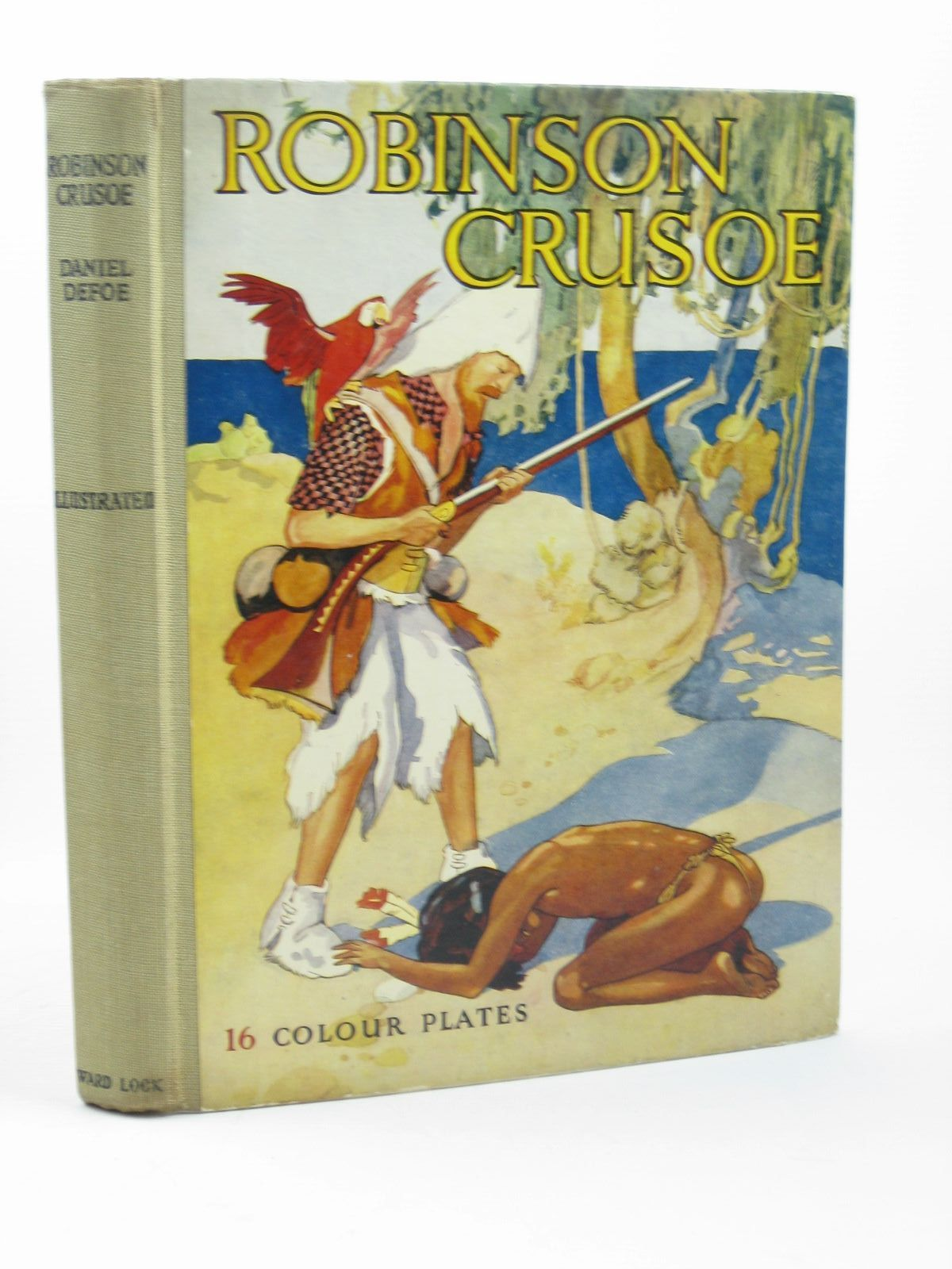 Photo of THE ADVENTURES OF ROBINSON CRUSOE written by Defoe, Daniel illustrated by Jackson, A.E. published by Ward, Lock & Co. Ltd. (STOCK CODE: 1312019)  for sale by Stella & Rose's Books