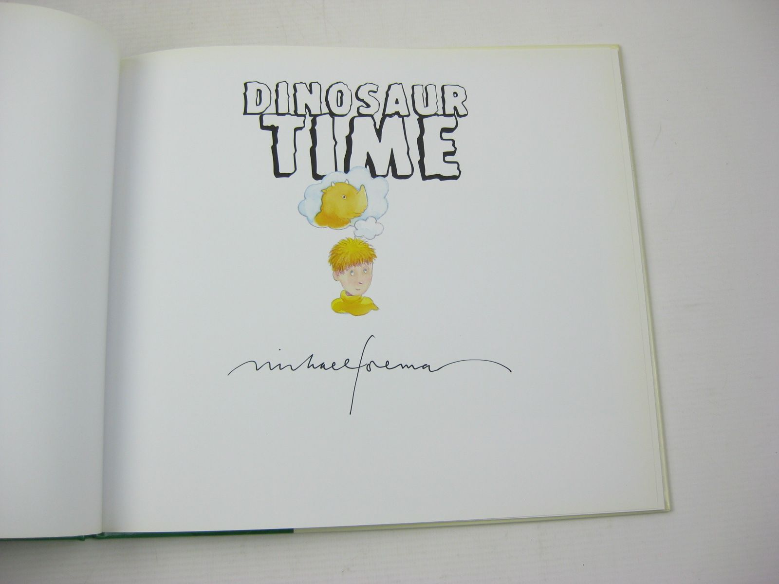Photo of DINOSAUR TIME written by Foreman, Michael illustrated by Foreman, Michael published by Andersen Press Ltd. (STOCK CODE: 1312502)  for sale by Stella & Rose's Books