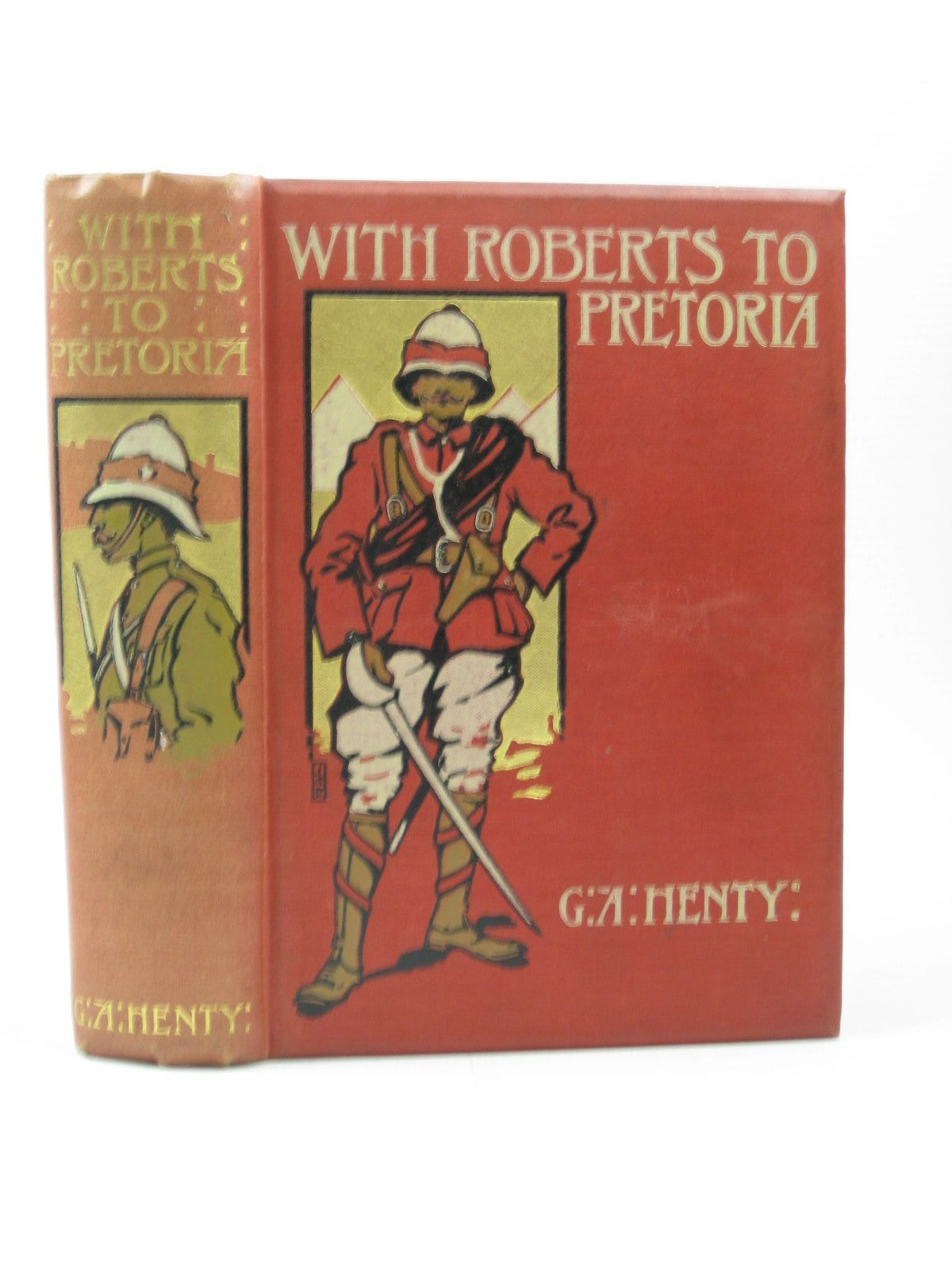 Photo of WITH ROBERTS TO PRETORIA written by Henty, G.A. illustrated by Rainey, William published by Blackie & Son Ltd. (STOCK CODE: 1312974)  for sale by Stella & Rose's Books