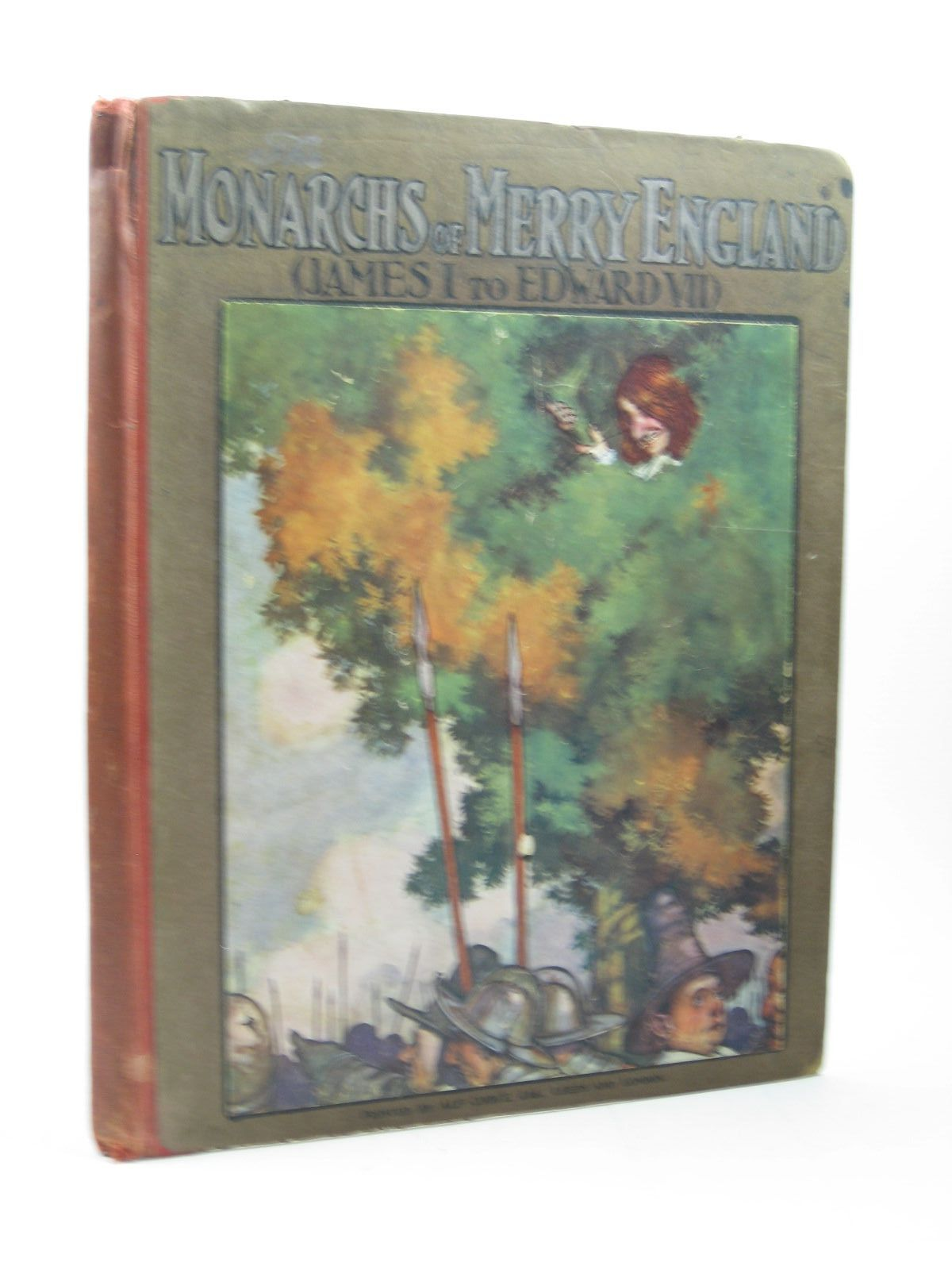 Photo of THE MONARCHS OF MERRY ENGLAND (JAMES I TO EDWARD VII) written by Carse, Roland illustrated by Robinson, W. Heath published by T. Fisher Unwin (STOCK CODE: 1312998)  for sale by Stella & Rose's Books