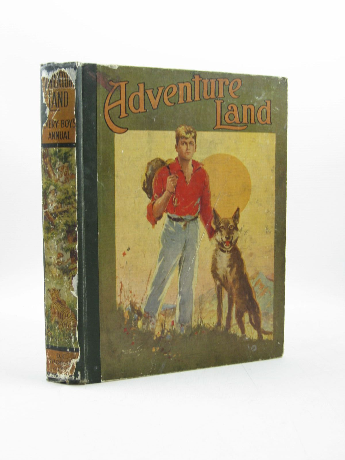 Photo of ADVENTURE LAND 1925 written by Warner, Dudley<br />Wood, Foster<br />et al,  illustrated by Ridgewell, W.L. published by D.C. Thomson & Co Ltd. (STOCK CODE: 1313631)  for sale by Stella & Rose's Books