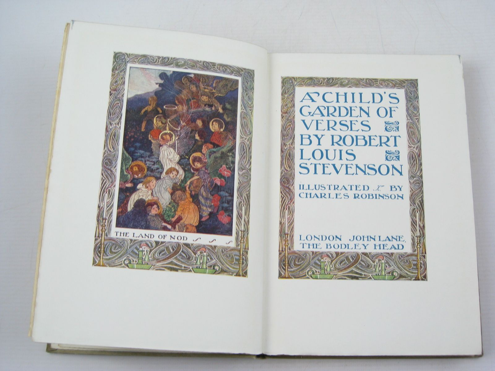 photo of a childs garden of verses written by stevenson robert louis illustrated by robinson - A Childs Garden Of Verses