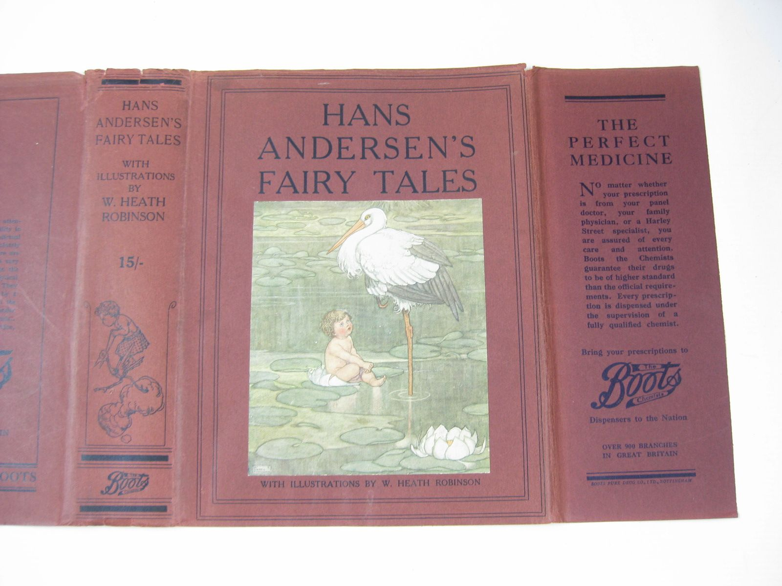 Photo of HANS ANDERSEN'S FAIRY TALES written by Andersen, Hans Christian illustrated by Robinson, W. Heath published by Hodder & Stoughton, Boots the Chemists (STOCK CODE: 1314305)  for sale by Stella & Rose's Books
