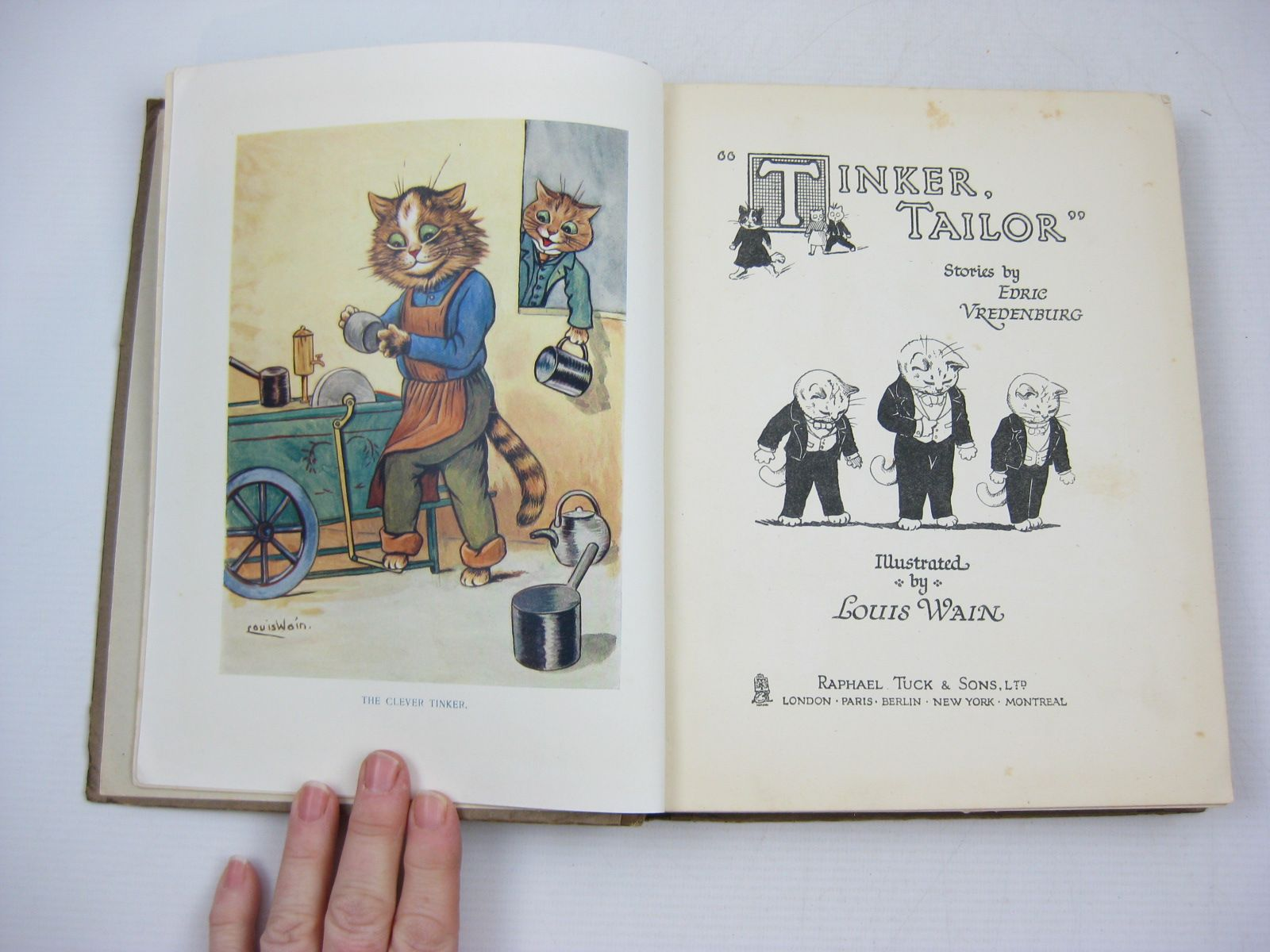 Photo of TINKER, TAILOR written by Vredenburg, Edric illustrated by Wain, Louis published by Raphael Tuck & Sons Ltd. (STOCK CODE: 1314506)  for sale by Stella & Rose's Books