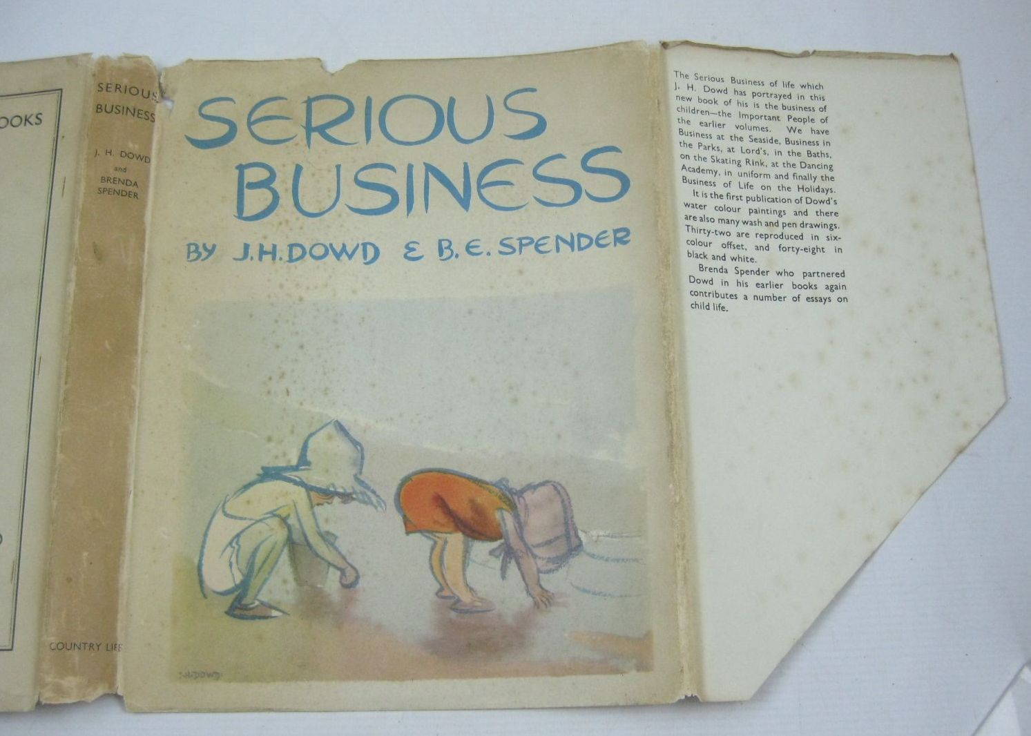 Photo of SERIOUS BUSINESS written by Spender, Brenda E. illustrated by Dowd, J.H. published by Country Life Ltd. (STOCK CODE: 1314677)  for sale by Stella & Rose's Books