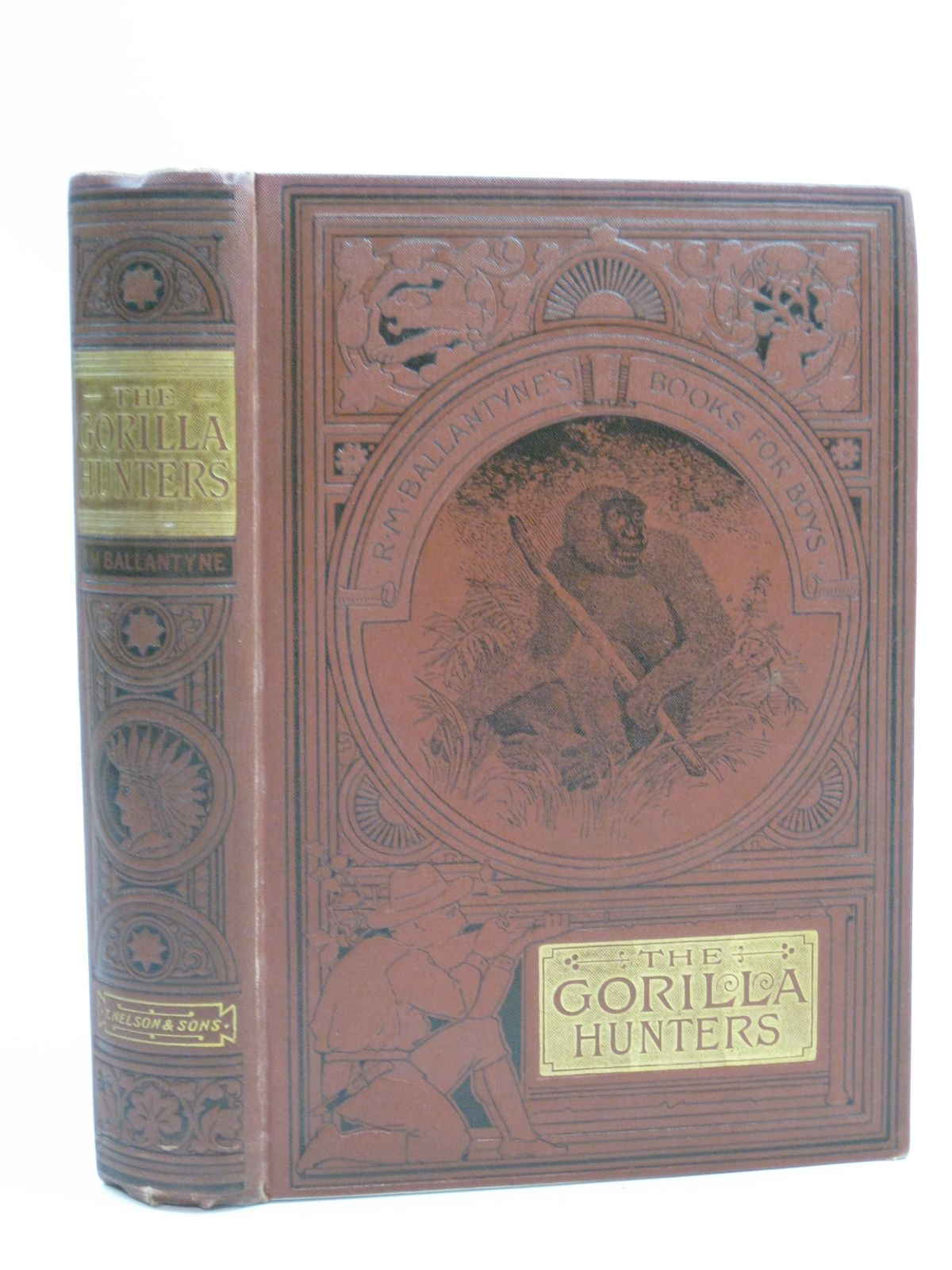 Photo of THE GORILLA HUNTERS written by Ballantyne, R.M. published by T. Nelson & Sons (STOCK CODE: 1315044)  for sale by Stella & Rose's Books
