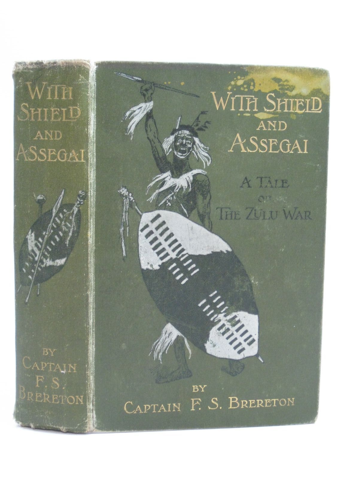 Photo of WITH SHIELD AND ASSEGAI written by Brereton, F.S. illustrated by Wood, Stanley L. published by Blackie And Son Limited (STOCK CODE: 1315111)  for sale by Stella & Rose's Books