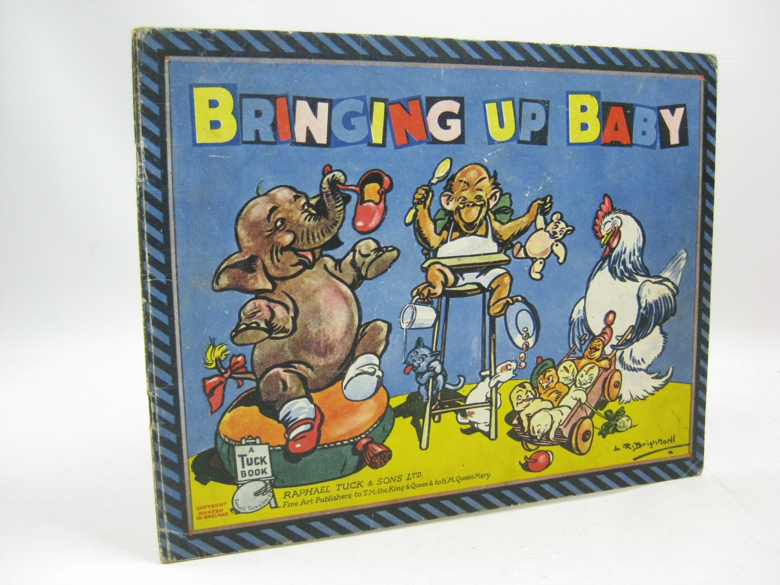 Photo of BRINGING UP BABY illustrated by Brightwell, L.R. published by Raphael Tuck & Sons Ltd. (STOCK CODE: 1315481)  for sale by Stella & Rose's Books