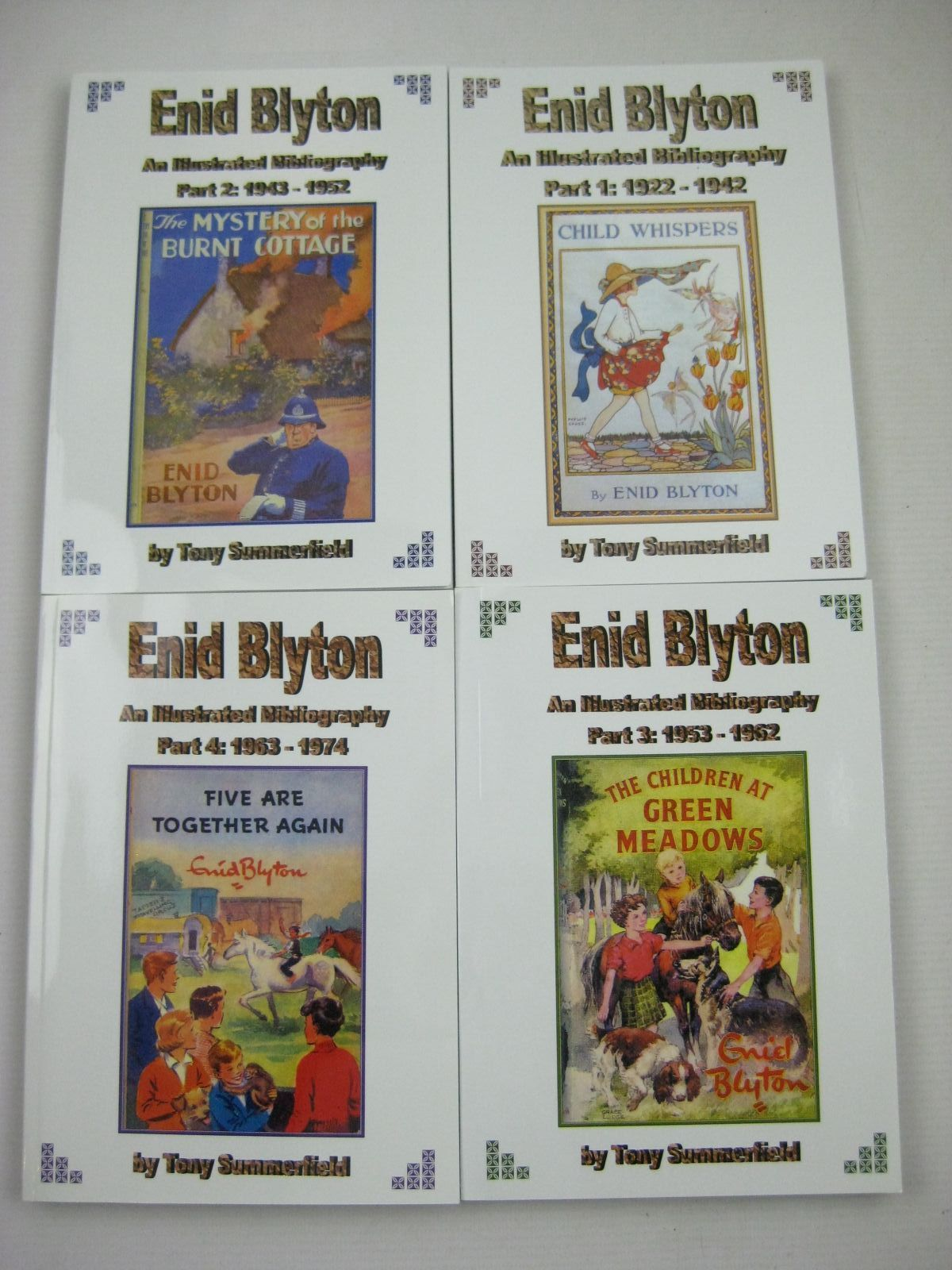 Photo of ENID BLYTON AN ILLUSTRATED BIBLIOGRAPHY PARTS 1 T0 4 written by Summerfield, Tony published by Milford Books (STOCK CODE: 1316214)  for sale by Stella & Rose's Books