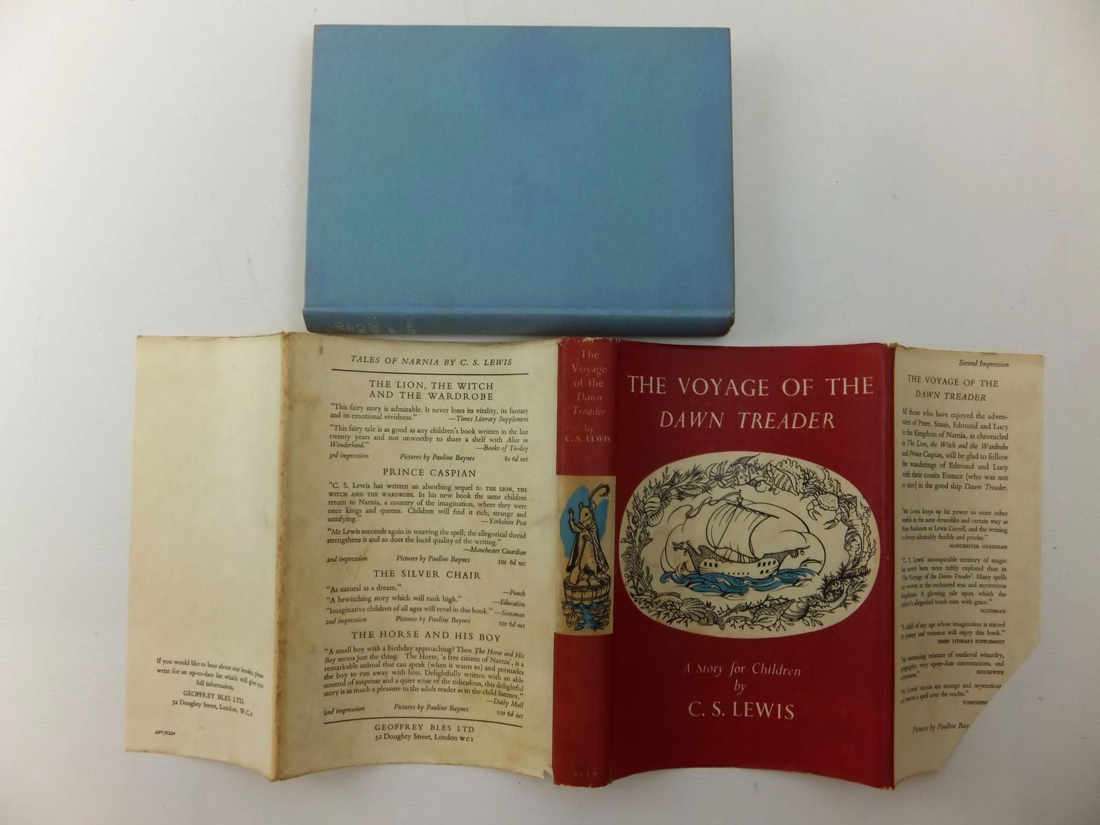 Photo of THE VOYAGE OF THE DAWN TREADER written by Lewis, C.S. illustrated by Baynes, Pauline published by Geoffrey Bles Ltd. (STOCK CODE: 1317051)  for sale by Stella & Rose's Books