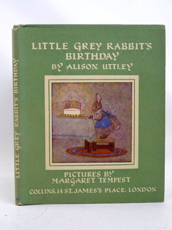 Photo of LITTLE GREY RABBIT'S BIRTHDAY written by Uttley, Alison illustrated by Tempest, Margaret published by Collins (STOCK CODE: 1317540)  for sale by Stella & Rose's Books