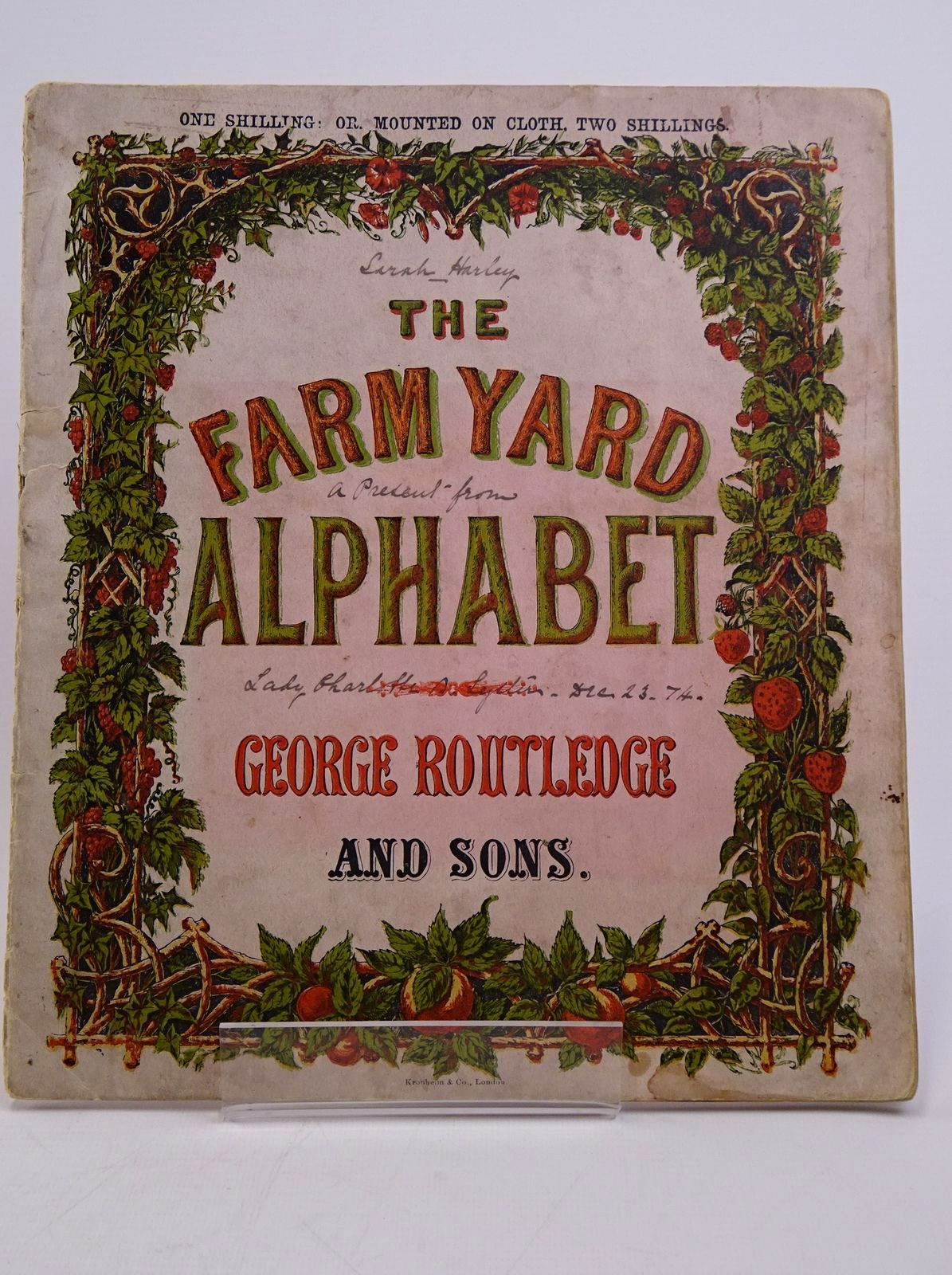 Photo of THE FARMYARD ALPHABET published by George Routledge & Sons (STOCK CODE: 1317797)  for sale by Stella & Rose's Books