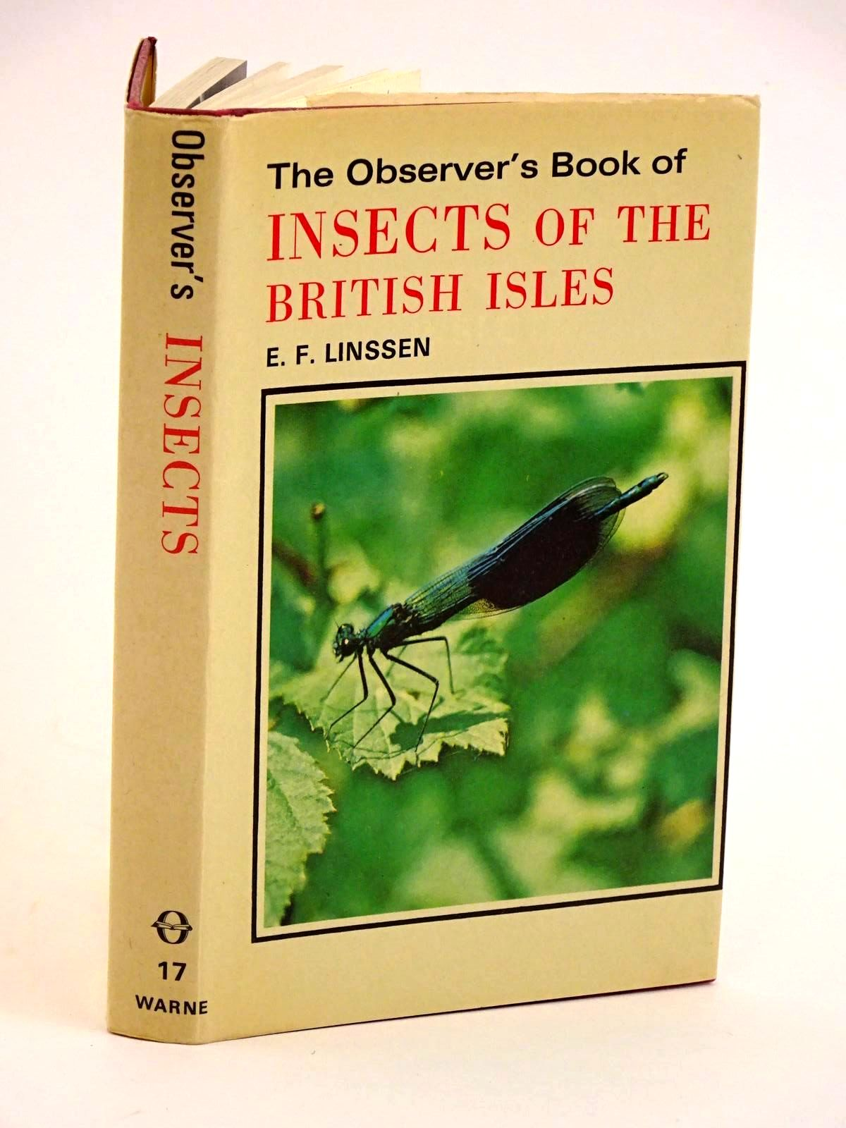 Photo of THE OBSERVER'S BOOK OF INSECTS OF THE BRITISH ISLES written by Linssen, E.F. illustrated by Riley, Gordon published by Frederick Warne (STOCK CODE: 1318106)  for sale by Stella & Rose's Books