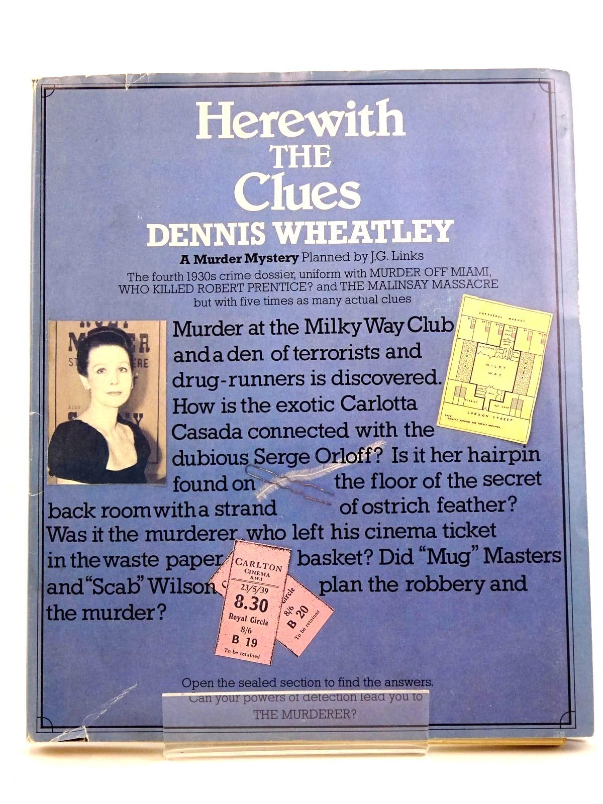 Photo of HERE WITH THE CLUES written by Wheatley, Dennis published by Webb & Bower (STOCK CODE: 1318124)  for sale by Stella & Rose's Books
