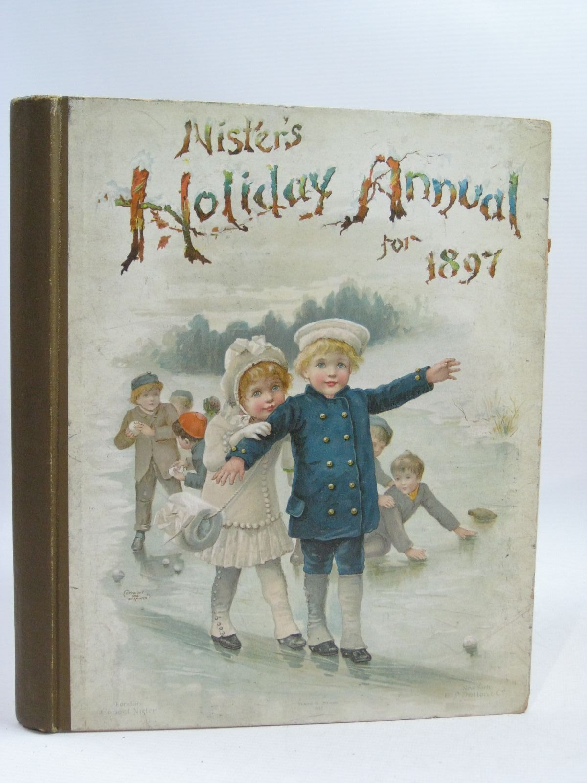 Photo of NISTER'S HOLIDAY ANNUAL FOR 1897 written by Fuller, Alfred J.<br />Mack, Robert Ellis<br />Weedon, L.L.<br />Bingham, Clifton<br />Nesbit, E.<br />et al,  illustrated by Wain, Louis<br />Foster, W.<br />et al.,  published by Ernest Nister (STOCK CODE: 1404840)  for sale by Stella & Rose's Books