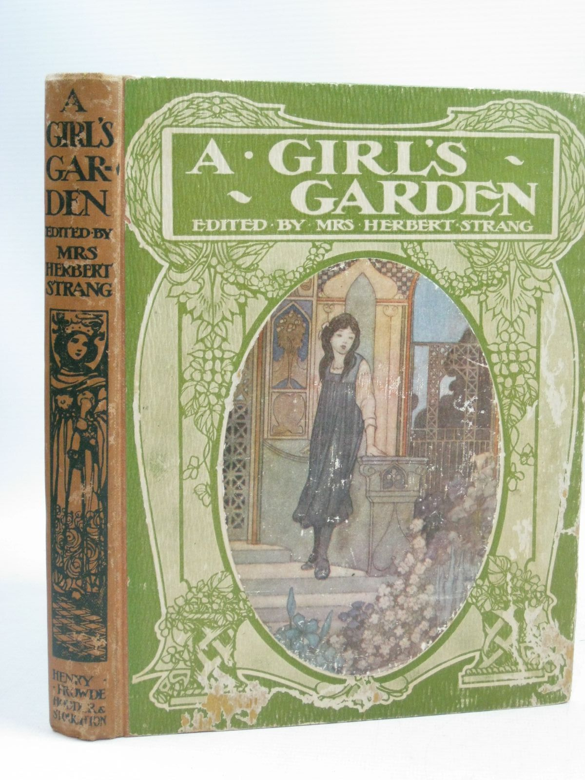 Photo of A GIRL'S GARDEN written by Strang, Mrs. Herbert<br />Brazil, Angela<br />Massie, Alice<br />Mansfield, Estrith E.<br />et al, illustrated by Hiley, Francis E.<br />Robinson, Charles<br />Robinson, T.H.<br />et al., published by Henry Frowde, Hodder & Stoughton (STOCK CODE: 1405195)  for sale by Stella & Rose's Books