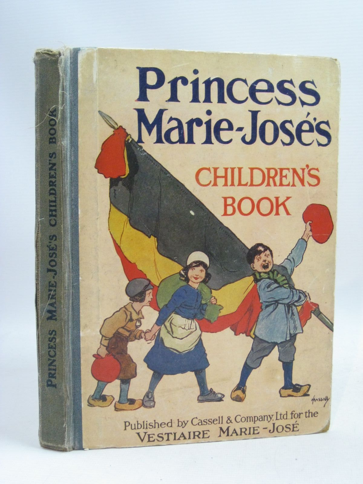 Photo of PRINCESS MARIE-JOSE'S CHILDREN'S BOOK written by Wells, H.G.<br />Galsworthy, John<br />De La Mare, Walter<br />et al,  illustrated by Attwell, Mabel Lucie<br />Rountree, Harry<br />Dulac, Edmund published by Cassell (STOCK CODE: 1405364)  for sale by Stella & Rose's Books