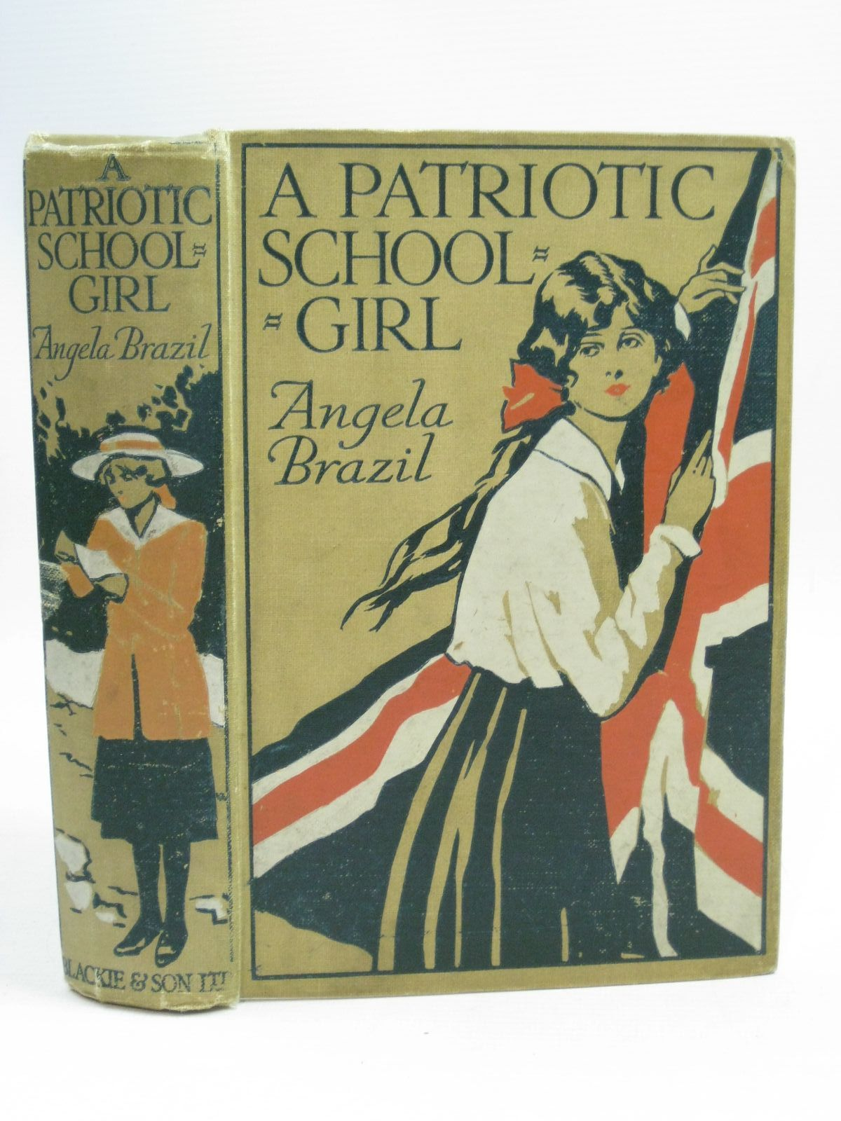 Photo of A PATRIOTIC SCHOOLGIRL written by Brazil, Angela illustrated by Salmon, Balliol published by Blackie & Son Ltd. (STOCK CODE: 1405465)  for sale by Stella & Rose's Books