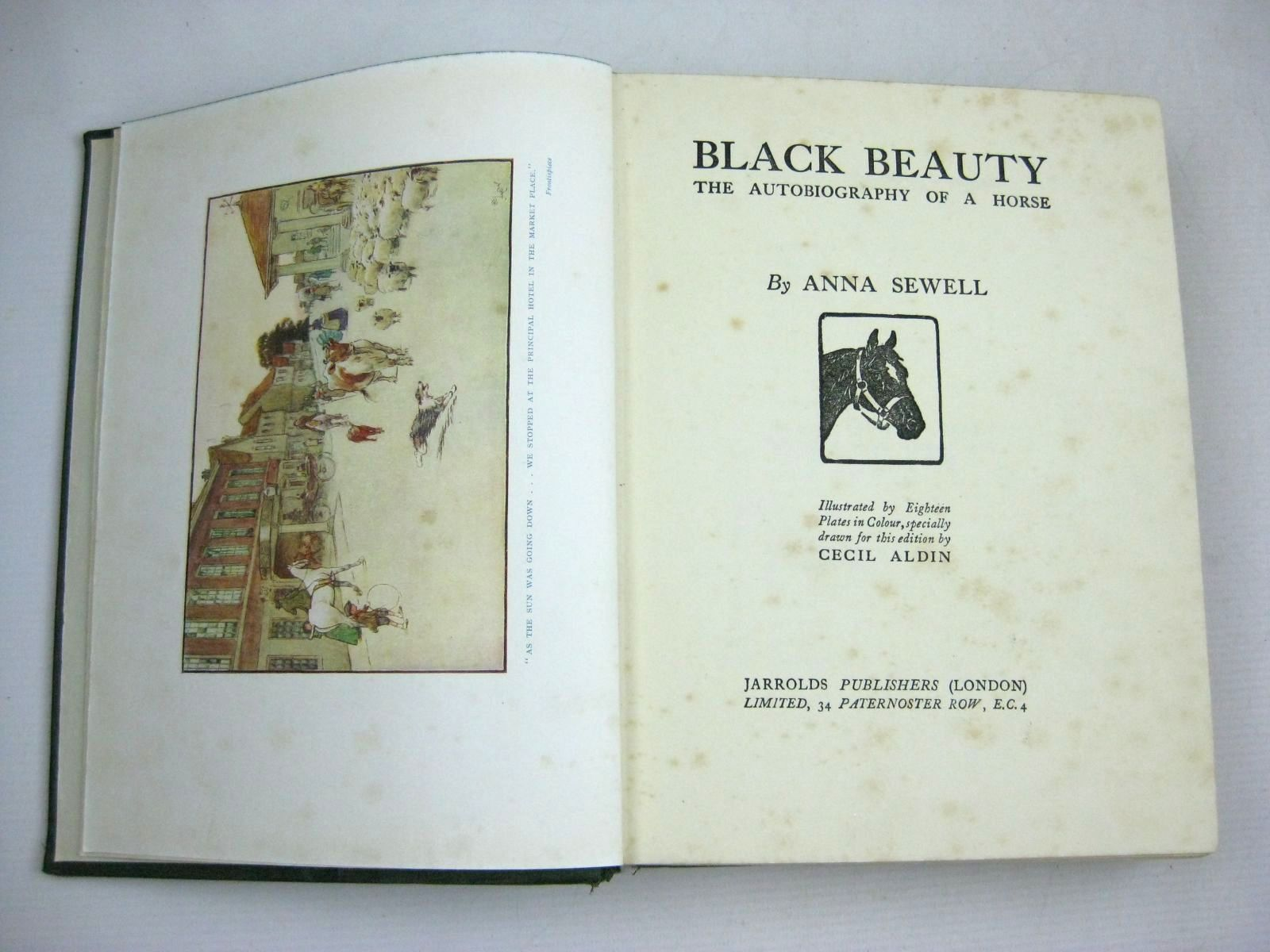 Photo of BLACK BEAUTY written by Sewell, Anna illustrated by Aldin, Cecil published by Jarrolds (STOCK CODE: 1405520)  for sale by Stella & Rose's Books
