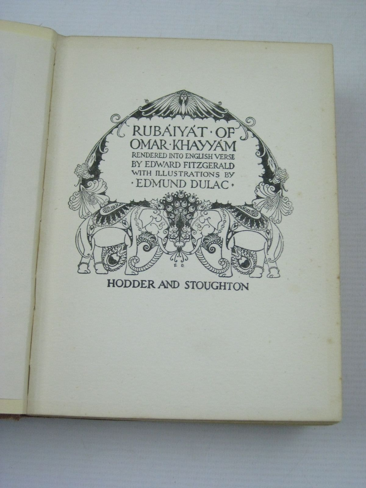 Photo of RUBAIYAT OF OMAR KHAYYAM written by Fitzgerald, Edward illustrated by Dulac, Edmund published by Hodder & Stoughton (STOCK CODE: 1405726)  for sale by Stella & Rose's Books