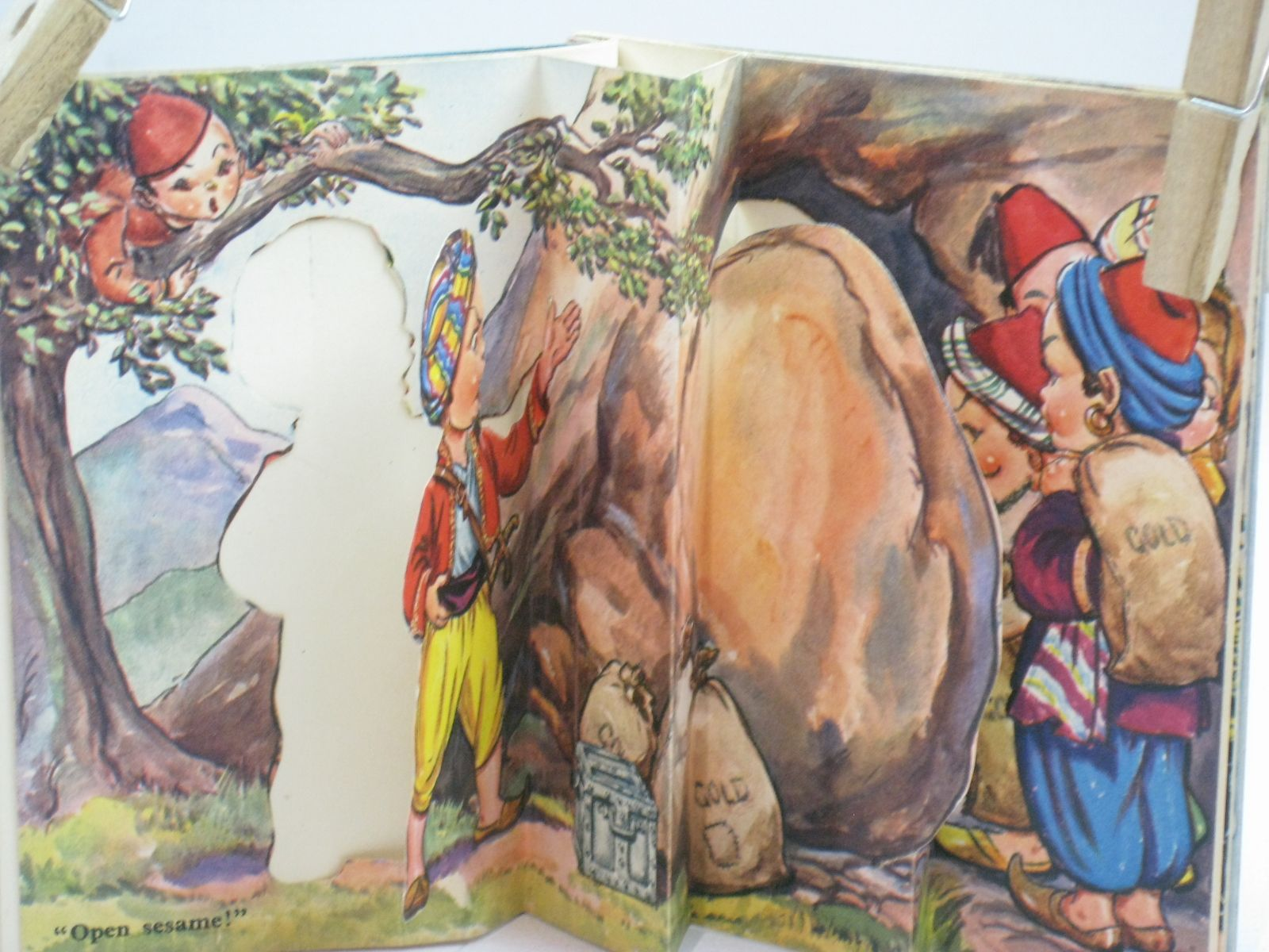 Photo of ALI BABA AND THE FORTY THIEVES illustrated by Dinah,  published by Raphael Tuck & Sons (STOCK CODE: 1405922)  for sale by Stella & Rose's Books