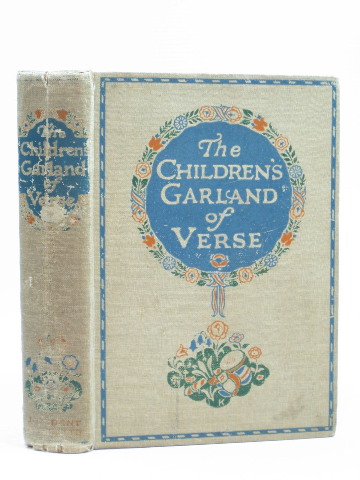 Photo of THE CHILDREN'S GARLAND OF VERSE written by Rhys, Grace<br />Longfellow, Henry Wadsworth<br />Scott, Sir Walter<br />Lear, Edward<br />et al, illustrated by Robinson, Charles published by J.M. Dent & Sons Ltd. (STOCK CODE: 1504300)  for sale by Stella & Rose's Books