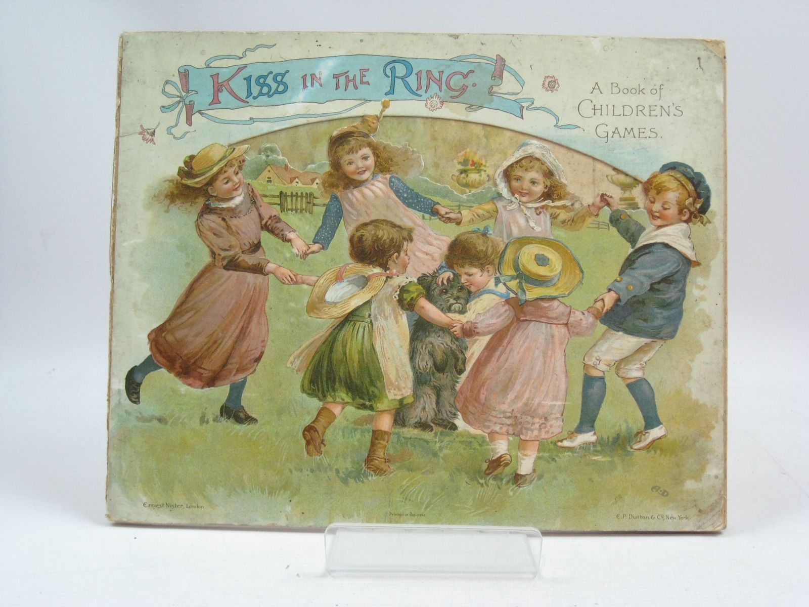 Photo of KISS IN THE RING A BOOK OF CHILDREN'S GAMES written by Mack, Robert Ellis<br />et al, illustrated by Hardy, E. Stuart<br />Maguire, Helena published by Ernest Nister, E.P. Dutton & Co. (STOCK CODE: 1505401)  for sale by Stella & Rose's Books