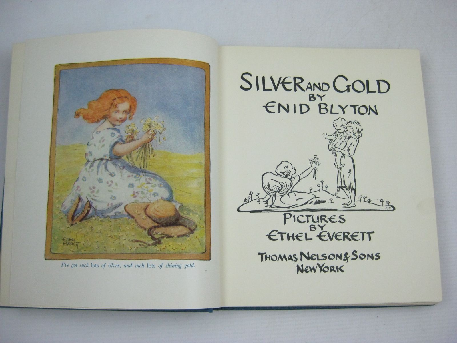 Photo of SILVER AND GOLD written by Blyton, Enid illustrated by Everett, Ethel F. published by Thomas Nelson & Sons (STOCK CODE: 1506113)  for sale by Stella & Rose's Books