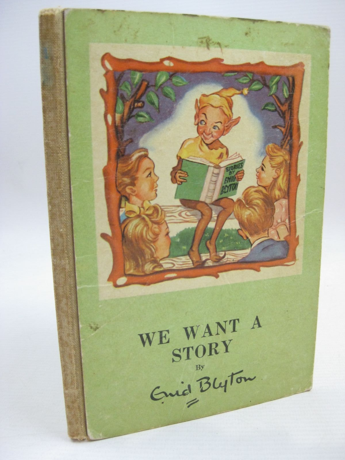 Photo of WE WANT A STORY written by Blyton, Enid illustrated by Bowe, George published by Murfett Pty. Ltd. (STOCK CODE: 1506331)  for sale by Stella & Rose's Books