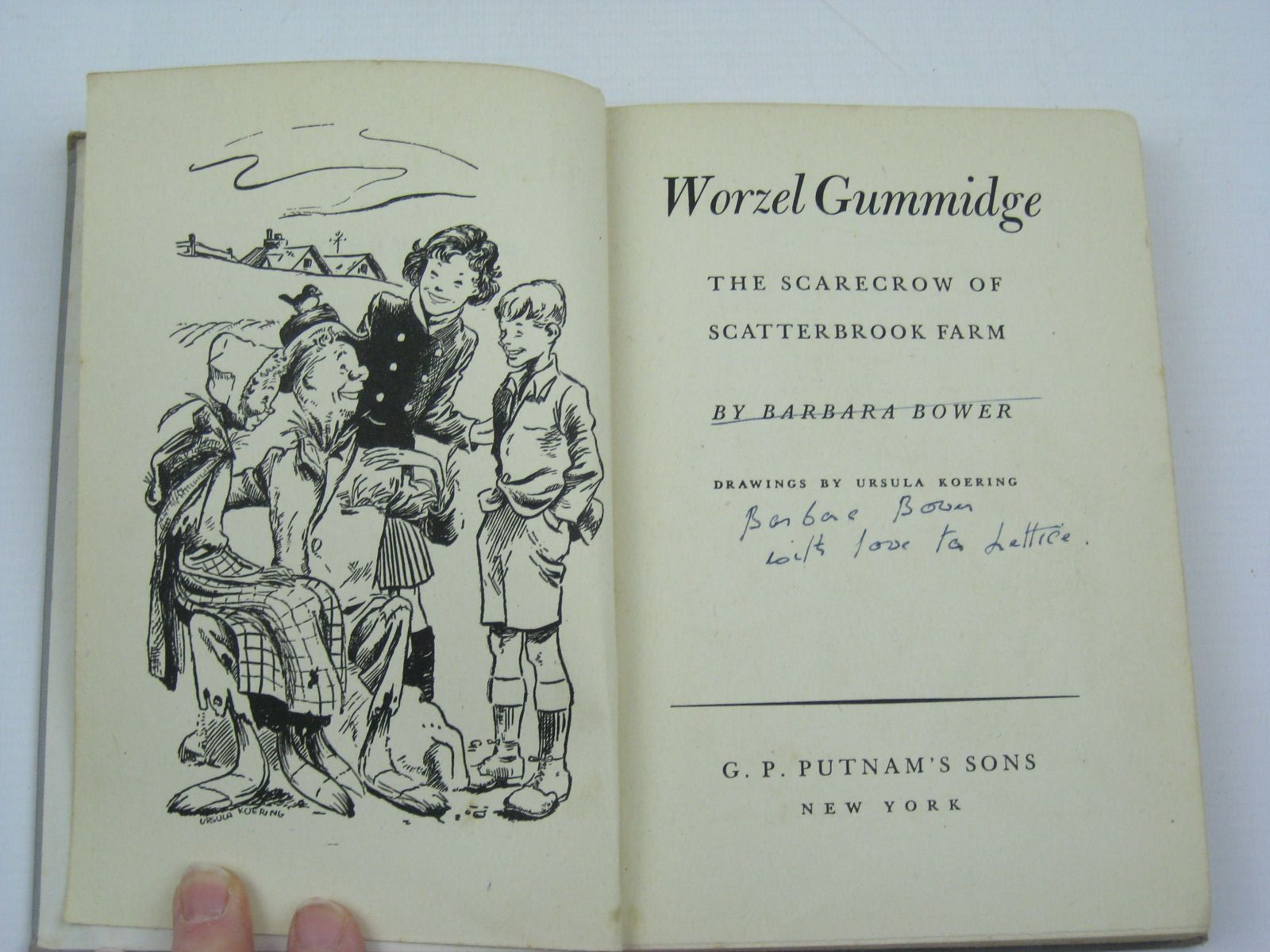 Photo of WORZEL GUMMIDGE written by Bower, Barbara illustrated by Koering, Ursula published by G.P. Putnam's Sons (STOCK CODE: 1507392)  for sale by Stella & Rose's Books