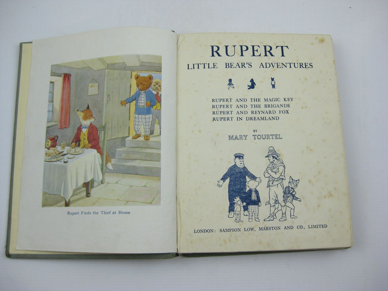 Photo of RUPERT LITTLE BEAR'S ADVENTURES NUMBER TWO written by Tourtel, Mary illustrated by Tourtel, Mary published by Sampson Low, Marston & Co. Ltd. (STOCK CODE: 1507450)  for sale by Stella & Rose's Books