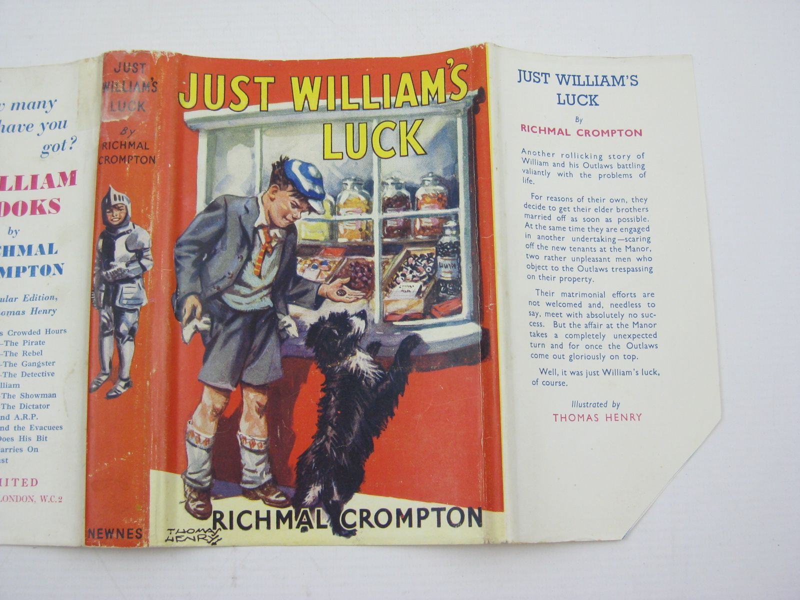 Photo of JUST WILLIAM'S LUCK written by Crompton, Richmal illustrated by Henry, Thomas published by George Newnes Ltd. (STOCK CODE: 1507453)  for sale by Stella & Rose's Books