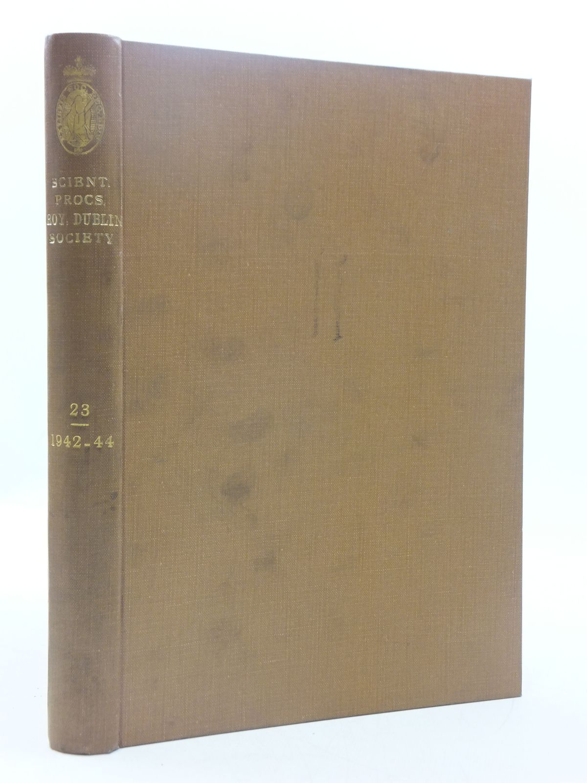 Photo of THE SCIENTIFIC PROCEEDINGS OF THE ROYAL DUBLIN SOCIETY VOLUME 23 (1942-44) published by Royal Dublin Society (STOCK CODE: 1605205)  for sale by Stella & Rose's Books