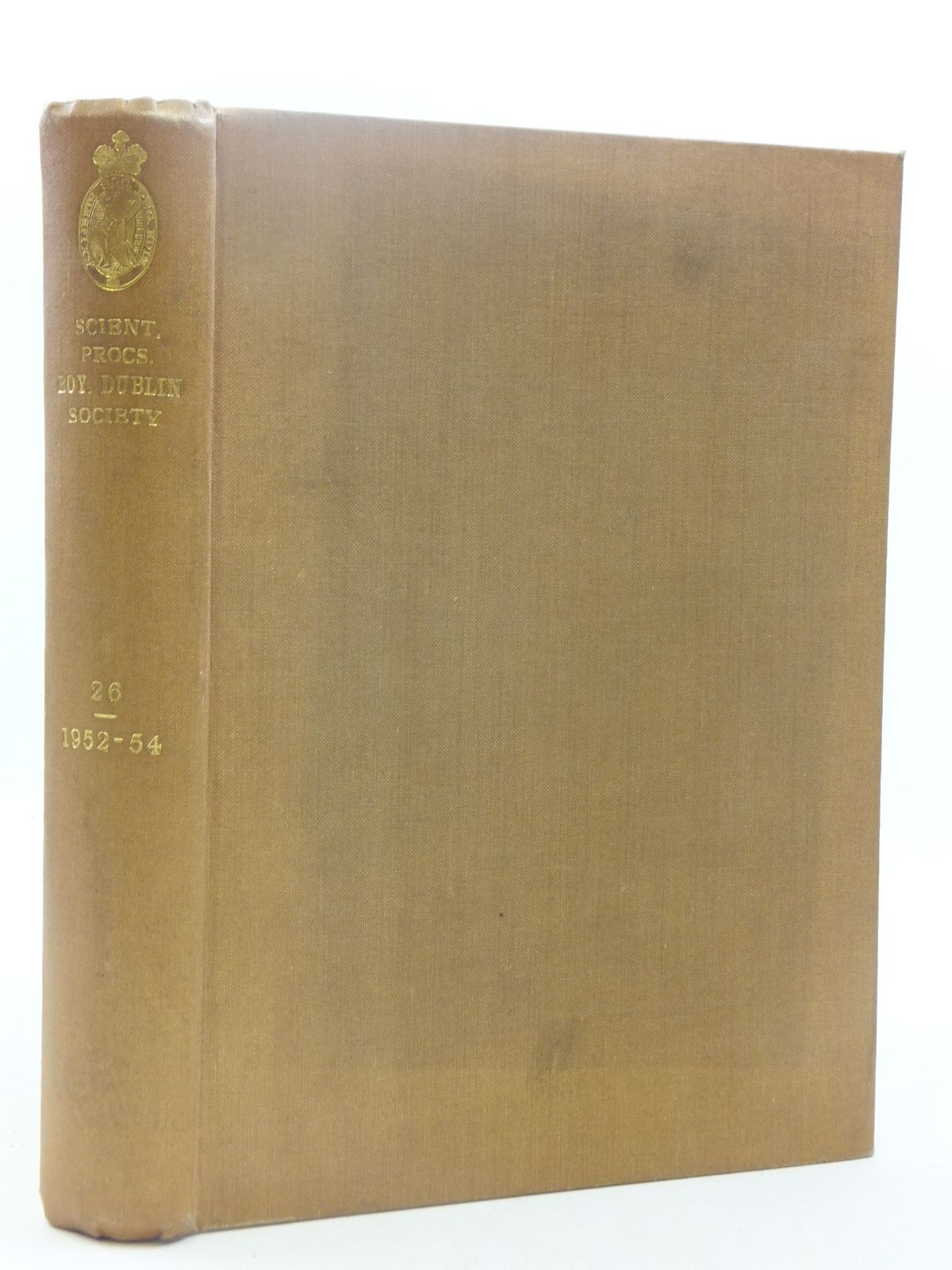 Photo of THE SCIENTIFIC PROCEEDINGS OF THE ROYAL DUBLIN SOCIETY VOLUME 26 (1952-54) published by Royal Dublin Society (STOCK CODE: 1605206)  for sale by Stella & Rose's Books
